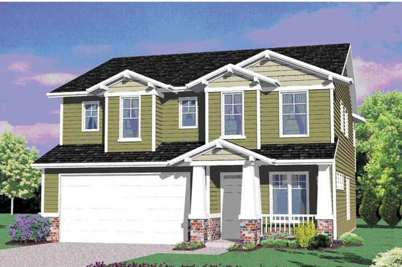 Traditional Exterior - Front Elevation Plan #509-229 - Houseplans.com
