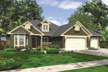 Ranch Exterior - Front Elevation Plan #132-535