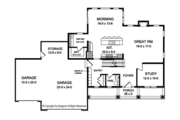 Traditional Style House Plan - 4 Beds 2.5 Baths 2665 Sq/Ft Plan #1010-158 Floor Plan - Main Floor Plan