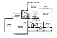 Traditional Floor Plan - Main Floor Plan Plan #1010-158