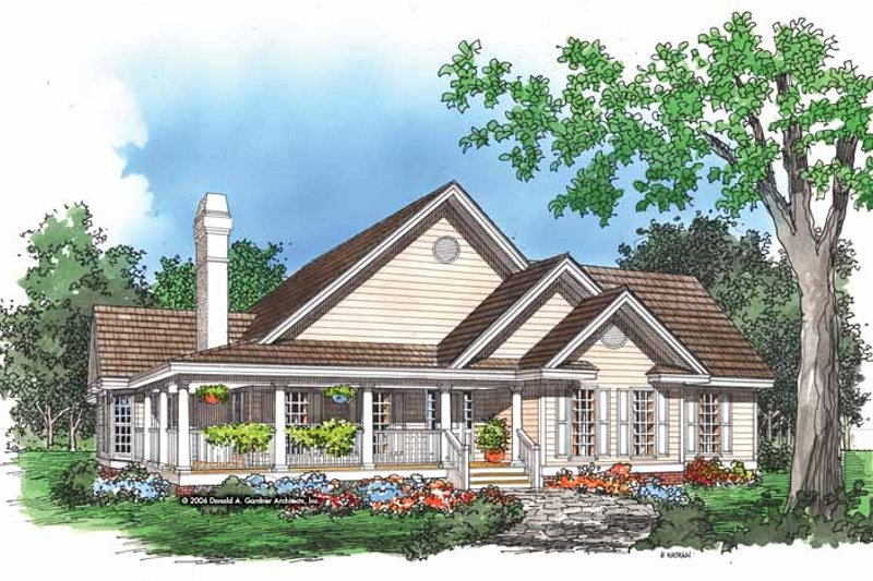 Dream House Plan - Bungalow Exterior - Front Elevation Plan #929-248