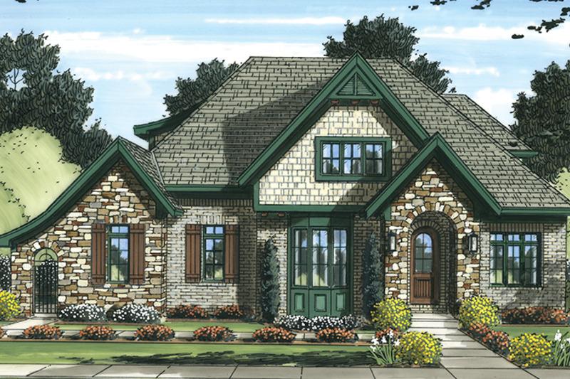 Tudor Exterior - Front Elevation Plan #46-853 - Houseplans.com