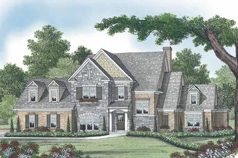 Country Exterior - Front Elevation Plan #453-533
