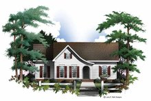 Colonial Exterior - Front Elevation Plan #952-230