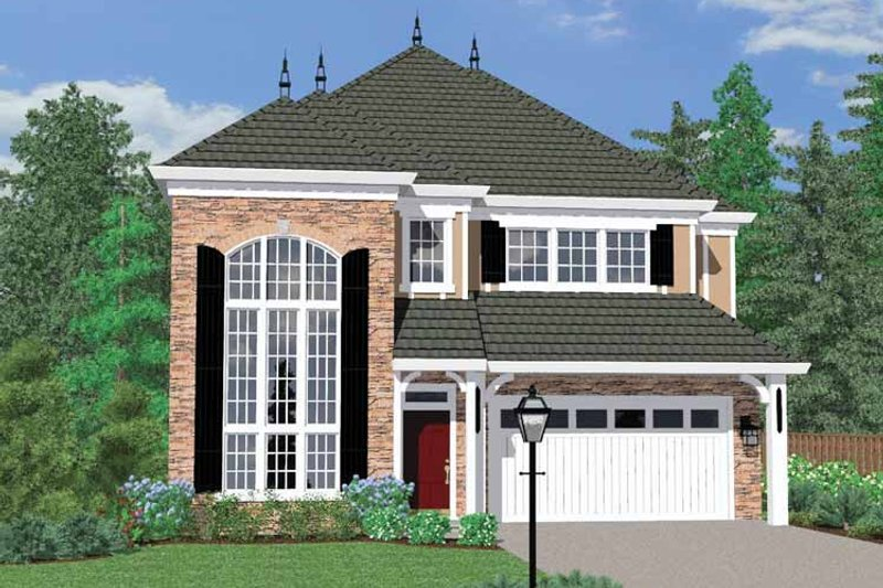 Traditional Exterior - Front Elevation Plan #509-295 - Houseplans.com