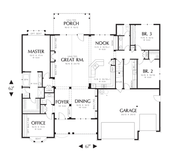 Traditional Floor Plan - Main Floor Plan Plan #48-541