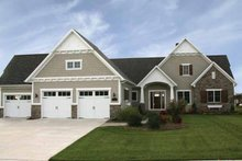 Craftsman Exterior - Front Elevation Plan #928-91