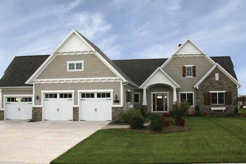 Architectural House Design - Craftsman Exterior - Front Elevation Plan #928-91