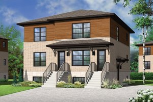 Dream House Plan - Contemporary Exterior - Front Elevation Plan #23-2595