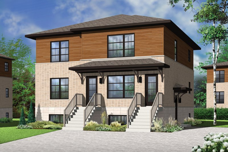 Home Plan - Contemporary Exterior - Front Elevation Plan #23-2595