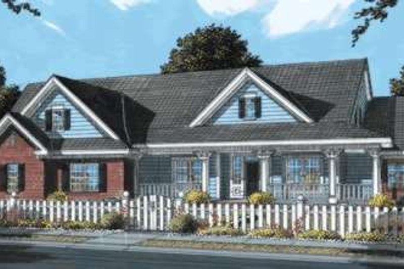 Country Exterior - Front Elevation Plan #20-1682
