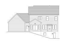 Colonial Exterior - Rear Elevation Plan #1010-36