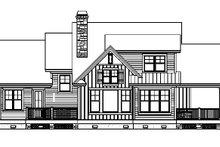 Craftsman Exterior - Rear Elevation Plan #929-933