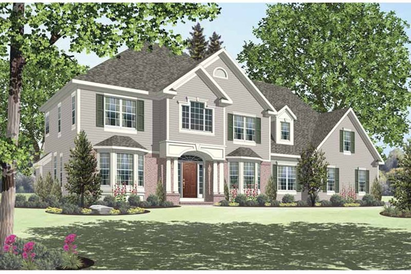 Traditional Exterior - Front Elevation Plan #328-453 - Houseplans.com