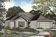 Ranch Exterior - Front Elevation Plan #17-3134