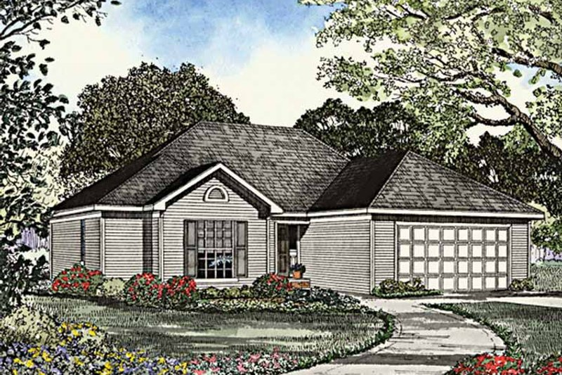 Dream House Plan - Ranch Exterior - Front Elevation Plan #17-3134