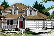 Home Plan Design - Traditional Exterior - Front Elevation Plan #100-226