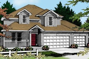 House Plan Design - Traditional Exterior - Front Elevation Plan #100-226