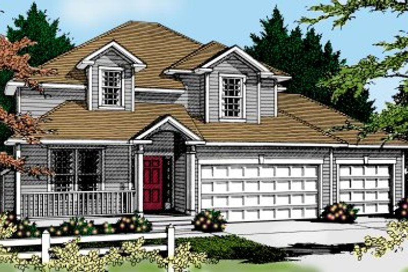 Traditional Exterior - Front Elevation Plan #100-226 - Houseplans.com