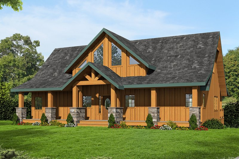 Craftsman Exterior - Front Elevation Plan #117-887