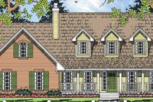 House Plan Design - Country Exterior - Front Elevation Plan #42-694