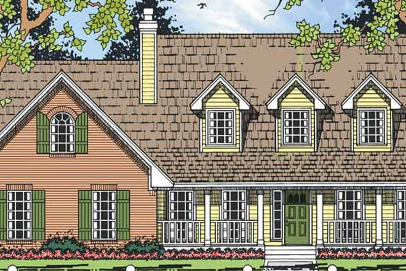 Country Exterior - Front Elevation Plan #42-694