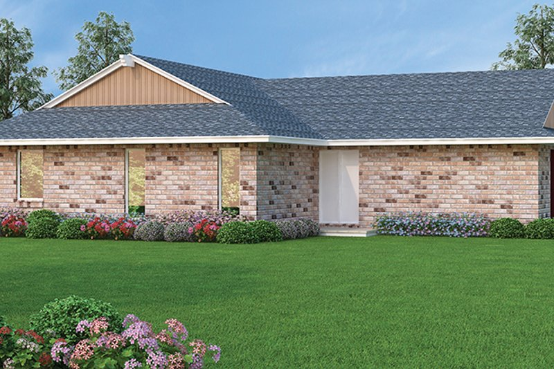 Ranch Exterior - Rear Elevation Plan #45-558 - Houseplans.com