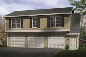 Traditional Exterior - Front Elevation Plan #22-403
