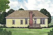 Traditional Style House Plan - 3 Beds 2 Baths 1383 Sq/Ft Plan #453-41 Exterior - Rear Elevation