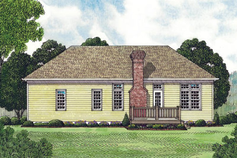 Traditional Exterior - Rear Elevation Plan #453-41 - Houseplans.com