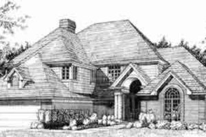 Traditional Exterior - Front Elevation Plan #120-103
