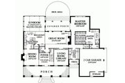 Southern Style House Plan - 4 Beds 3 Baths 3738 Sq/Ft Plan #137-185 Floor Plan - Main Floor Plan