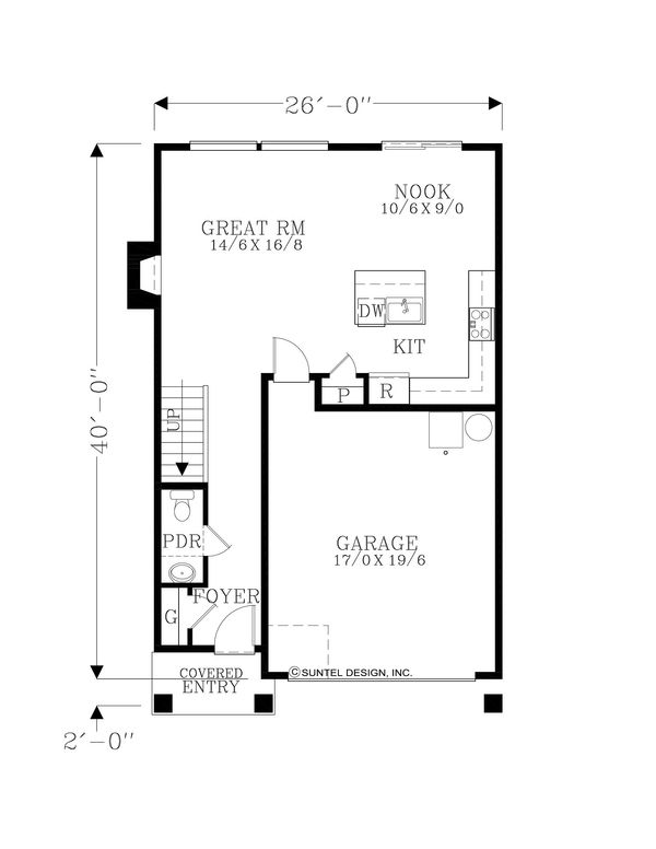 Craftsman Floor Plan - Upper Floor Plan Plan #53-645