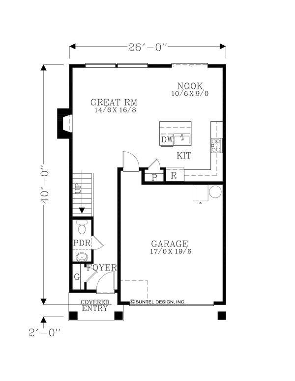 Craftsman Floor Plan - Upper Floor Plan Plan #53-645