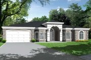 Adobe / Southwestern Style House Plan - 4 Beds 3 Baths 2810 Sq/Ft Plan #1-686 Exterior - Front Elevation