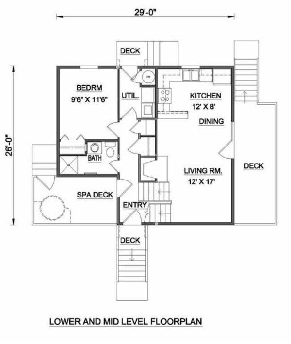 Contemporary Floor Plan - Main Floor Plan #116-121
