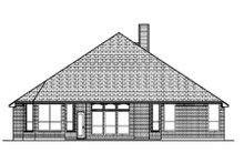 Dream House Plan - Traditional Exterior - Rear Elevation Plan #84-358