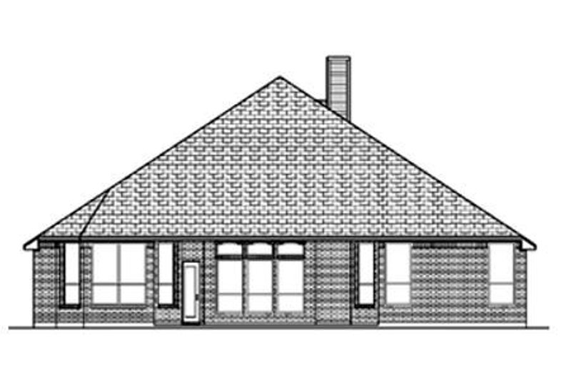 Traditional Exterior - Rear Elevation Plan #84-358 - Houseplans.com