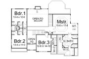 European Style House Plan - 5 Beds 4 Baths 3254 Sq/Ft Plan #119-263 Floor Plan - Upper Floor