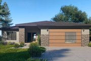 Traditional Style House Plan - 3 Beds 2 Baths 2002 Sq/Ft Plan #1066-122 Exterior - Front Elevation