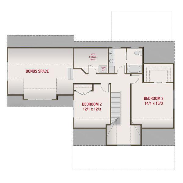 Farmhouse Floor Plan - Upper Floor Plan Plan #461-72