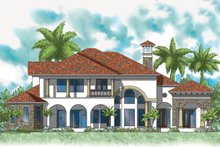 Architectural House Design - Mediterranean Exterior - Rear Elevation Plan #930-492