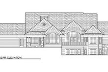 Dream House Plan - Traditional Exterior - Rear Elevation Plan #70-1007