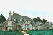 European Style House Plan - 4 Beds 4.5 Baths 4338 Sq/Ft Plan #310-1309