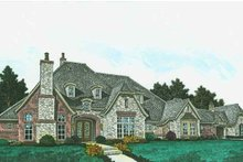 European Exterior - Front Elevation Plan #310-1309