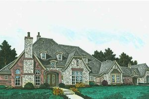 Architectural House Design - European Exterior - Front Elevation Plan #310-1309