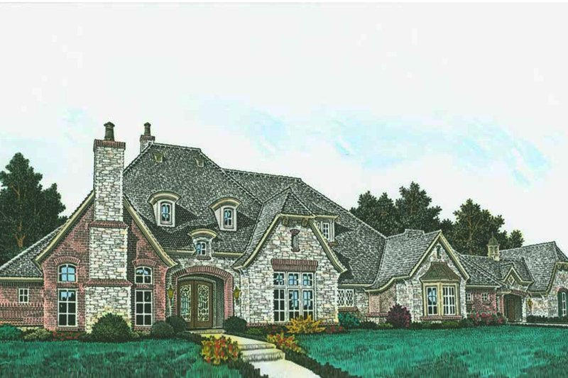 House Plan Design - European Exterior - Front Elevation Plan #310-1309