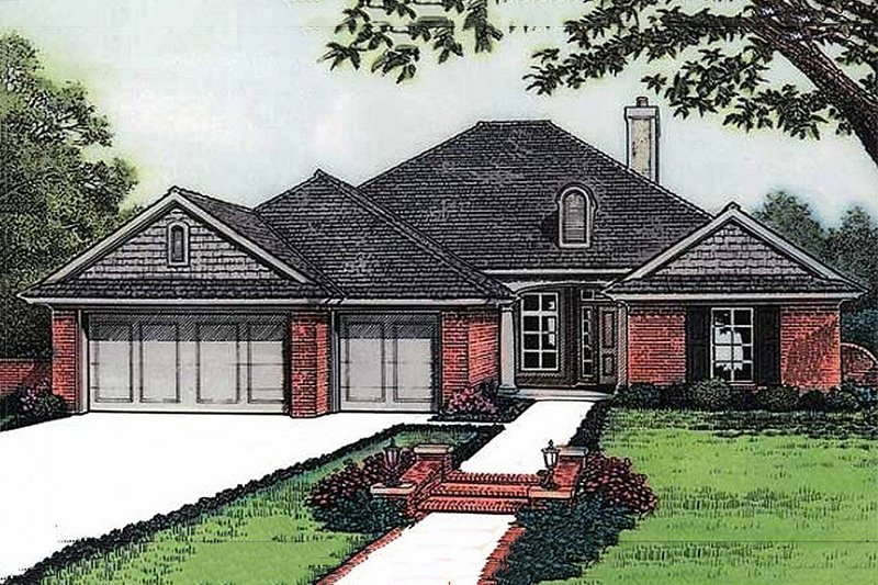 European Exterior - Front Elevation Plan #310-589