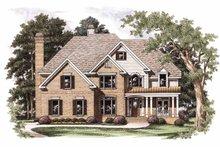 Architectural House Design - Colonial Exterior - Front Elevation Plan #927-699