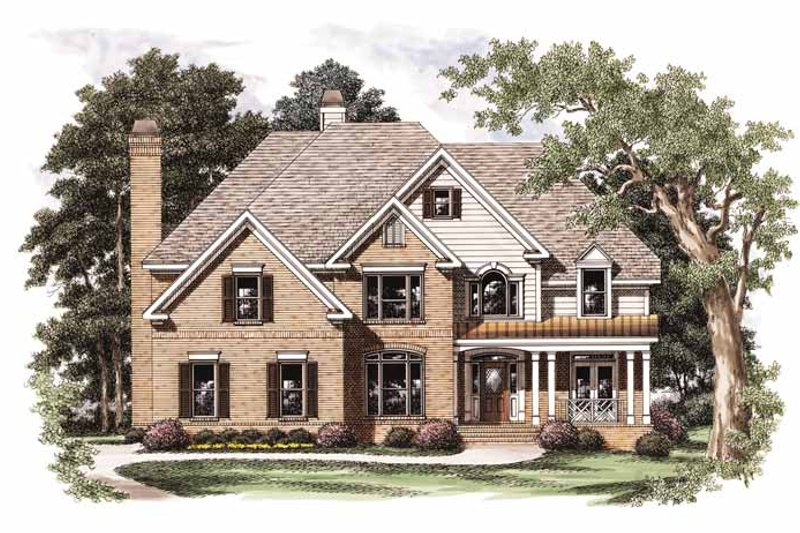 Colonial Exterior - Front Elevation Plan #927-699